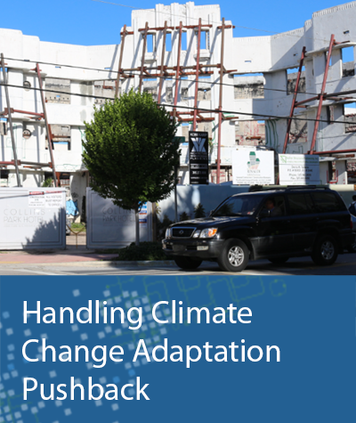 Handling Climate Change Adaptation Pushback