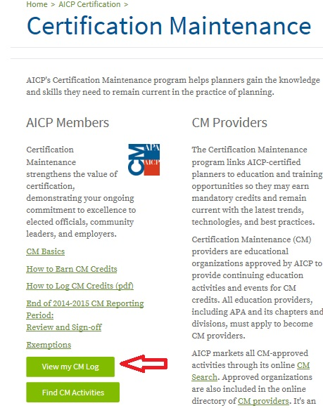 How to Log Certification Maintenance (CM) Credits