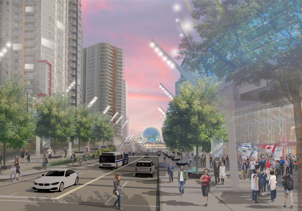 Under the new plan, Georgia Street will connect downtown to the waterfront.