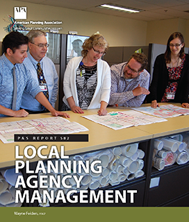 Cover of PAS Report no. 582, Local Planning Agency Management