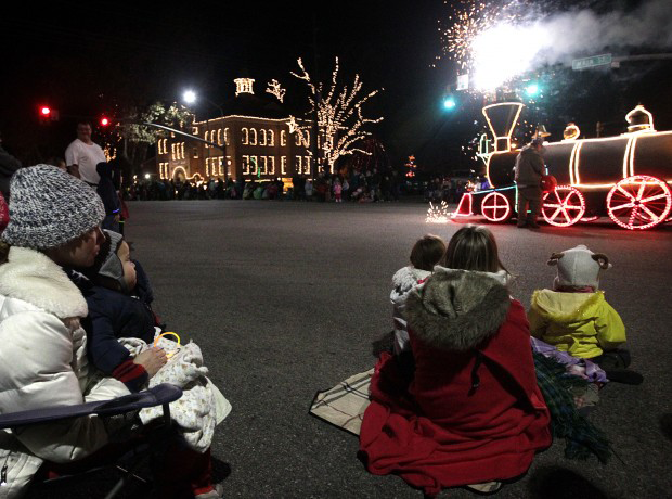 the downtown lights parade attracted thousands downtown even with the temperatures well below freezing photo courtesy spanish fork community development - Spanish Fork Christmas Lights