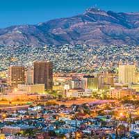El Paso, Texas, skyline. Getty Images.