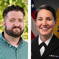 Lt. Emily Ussery and Jack Heide, AICP, headshots.