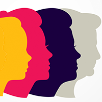 An illustration of a woman's profile at different ages throughout the lifespan. Getty Images.