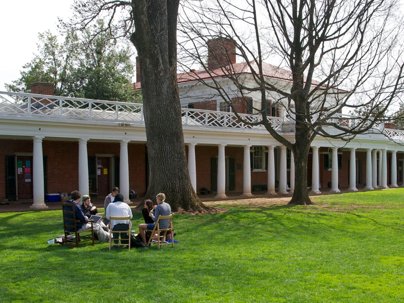 The Lawn at the University of Virginia: Charlottesville, Virginia