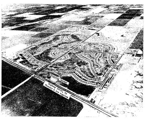 Aerial view of Sun City, Arizona, courtesy of Del E. Webb Corporation