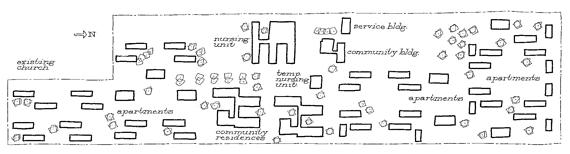 Plot plan of Presbyterian Village in Detroit