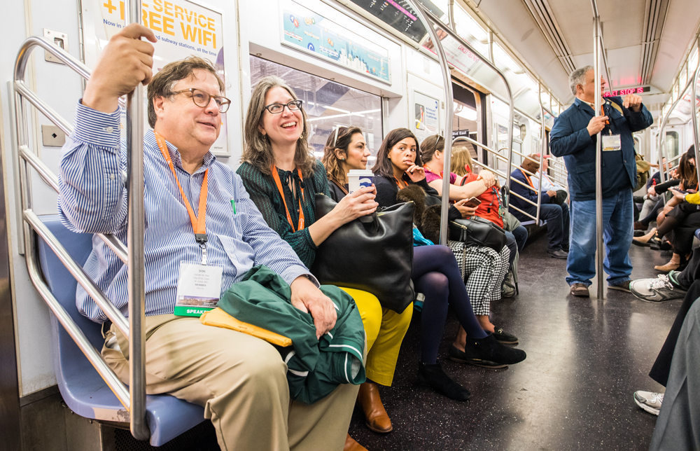 At NPC17 in New York City, many attendees rode the subway. APA photo by Joe Szurszewski.
