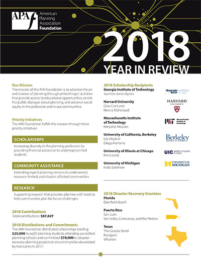 2018 APA Foundation Year in Review cover
