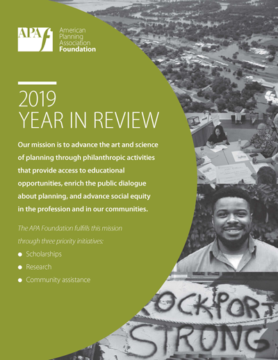 The cover of the 2019 APA Foundation Year in Review report.