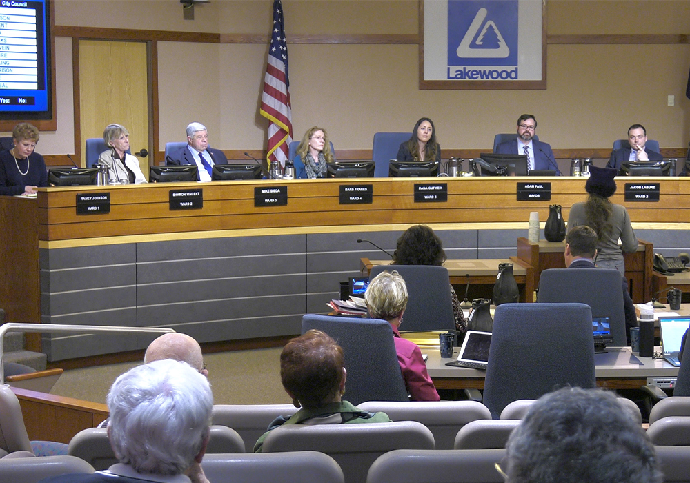 A web-based platform enables Lakewood residents to participate in the planning commission's public hearings without being present at the live meetings.