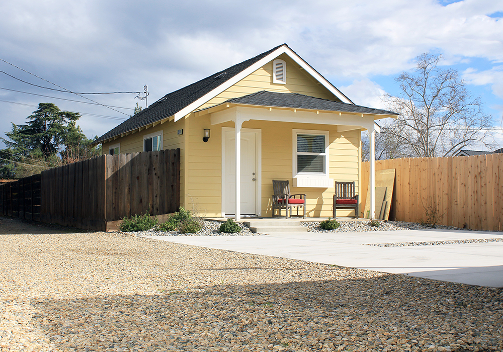 Fourth street view of cottage home program results, Clovis, California