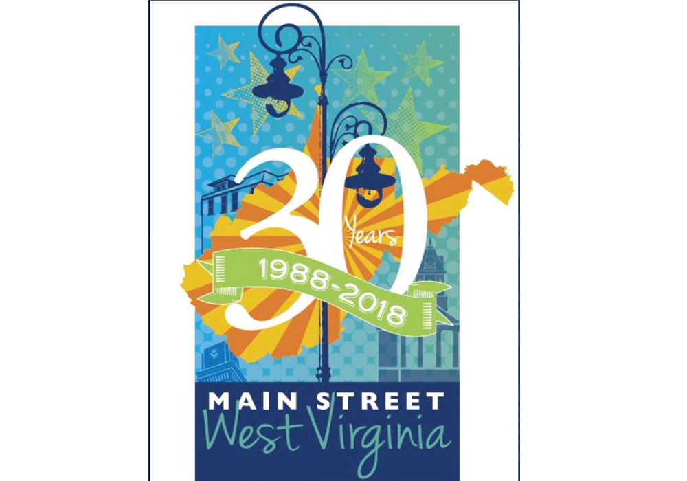 Commemorative poster of one of the early adopters of the Main Street Program in West Virginia.