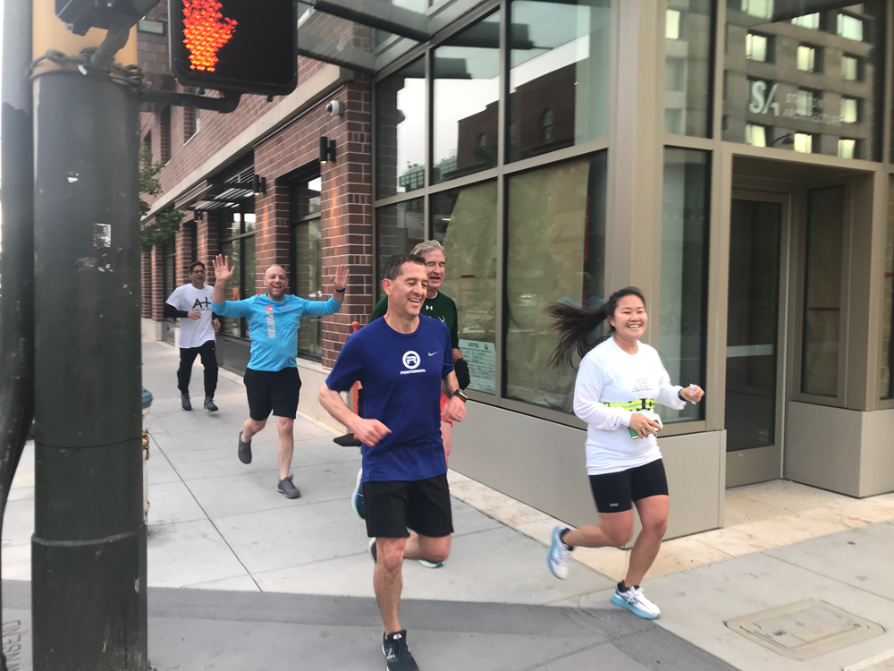 Early morning runners and walkers were happy for a flat course for the 5K Run at NPC19. Photo by Meghan Stromberg.