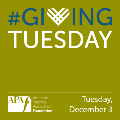 Square graphic for use on social media and websites to support the APA Foundation on Giving Tuesday 2019