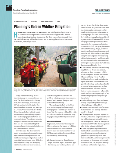 Cover of the February 2019 issue of The Commissioner.