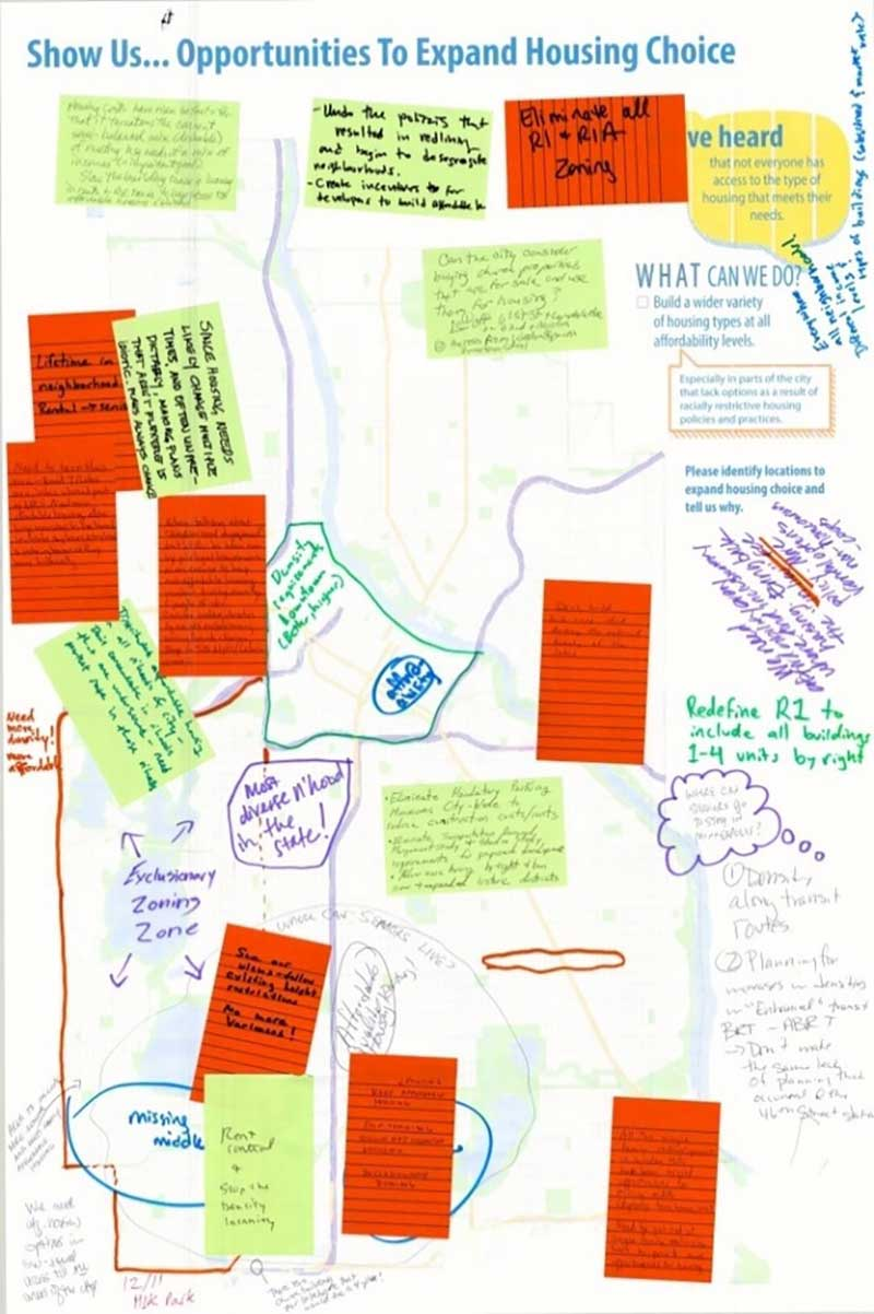 Figure 9. Public feedback from the Minneapolis 2040 planning process on expanding housing choice (City of Minneapolis)
