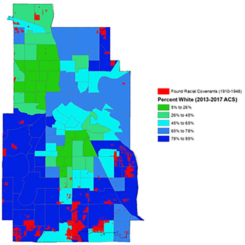 Figure 6. Map of properties with racial covenants in Minneapolis (City of Minneapolis)