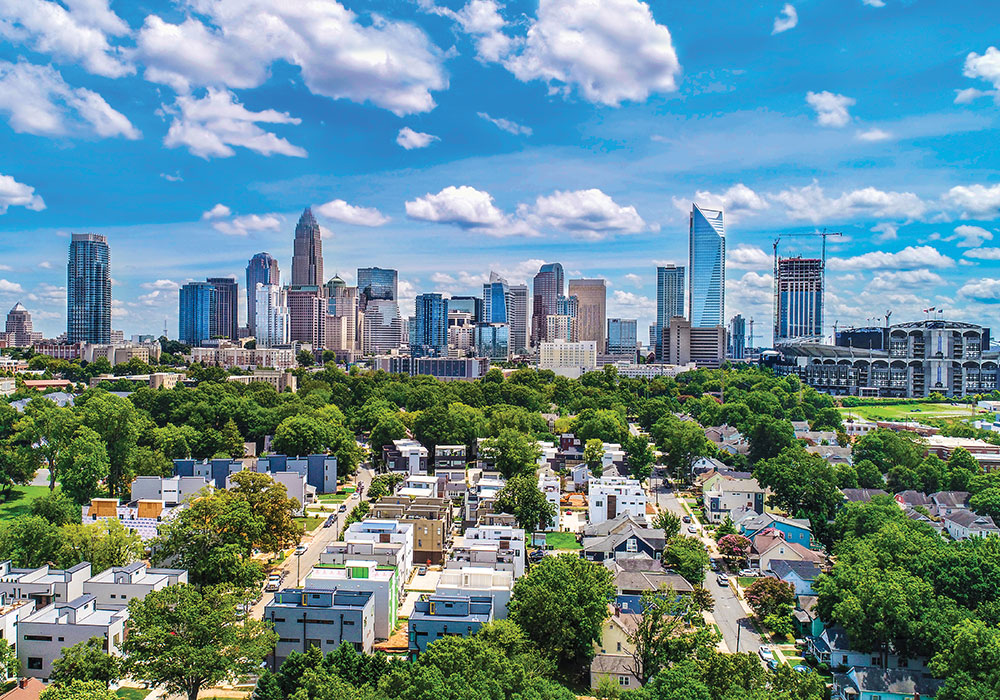 Getty image of Charlotte, North Carolina skyline for Planning Home case study
