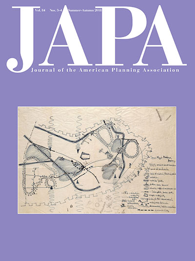 Cover of the Summer Fall 2018 issue of the Journal of the American Planning Association.