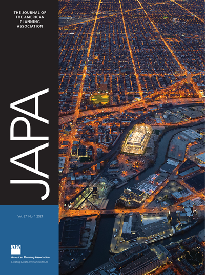 Cover of Journal of the American Planning Association, Vol. 87, No. 1.