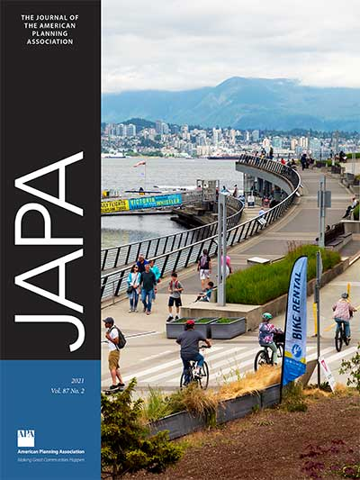 Cover of Journal of the American Planning Association, Vol. 87, No. 2.
