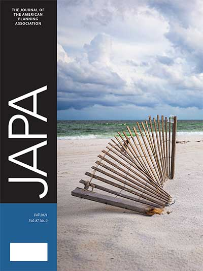 Cover of Journal of the American Planning Association, Vol. 87, No. 3.