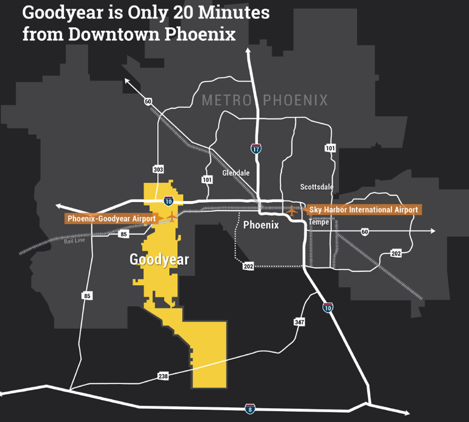 Figure 1. The City of Goodyear. Map courtesy City of Goodyear.
