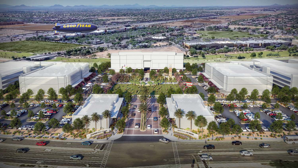 Figure 7. Rendering of the Goodyear Civic Square. Photo courtesy City of Goodyear.
