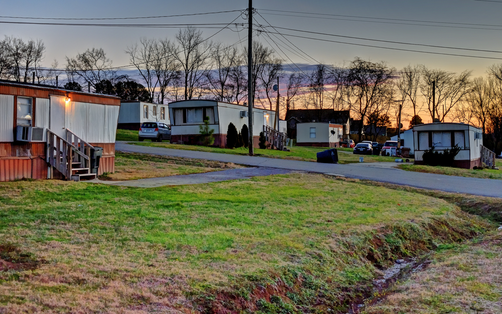 Figure 1. Manufactured housing communities are an affordable home ownership option increasingly threatened in many jurisdictions. Photo by Flickr user ddatch (CC BY-NC-SA 2.0).