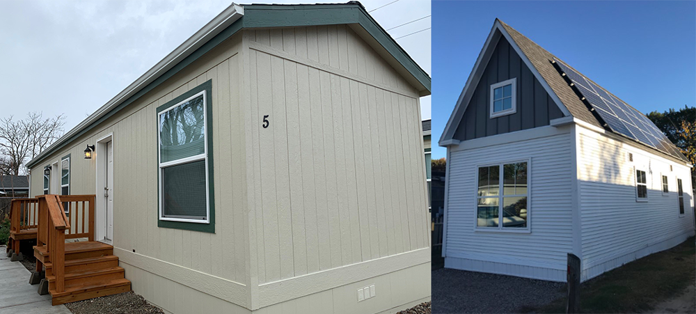 Manufactured (left) and modular (right) housing. Photos courtesy City of Boulder.