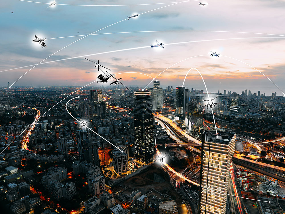 Preparing communities for urban air mobility technologies will require foresight and expertise. Image by NASA/Lillian Gipson.