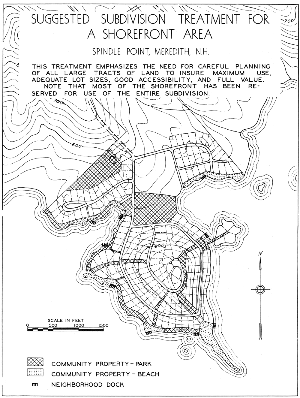 Figure 1. From A Study of the Lake Winnipesaukee Shore Line, New Hampshire State Planning and Development Commission