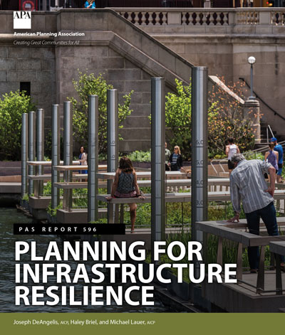 Cover of PAS Report 596: Planning for Infrastructure Resilience