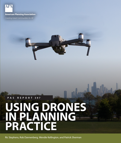 Cover of PAS Report 597: Using Drones in Planning Practice.