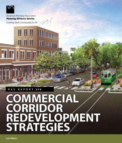 Cover of PAS Report 598, Commercial Corridor Redevelopment Strategies