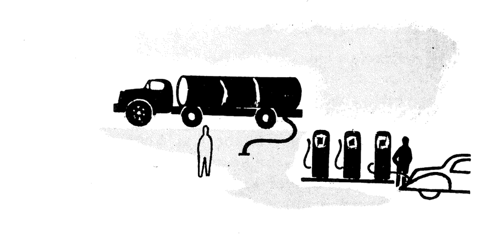 PAS Report 79, Figure 1. Line drawing of a tanker truck.