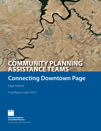 Cover of final CPAT report for Page, Arizona.
