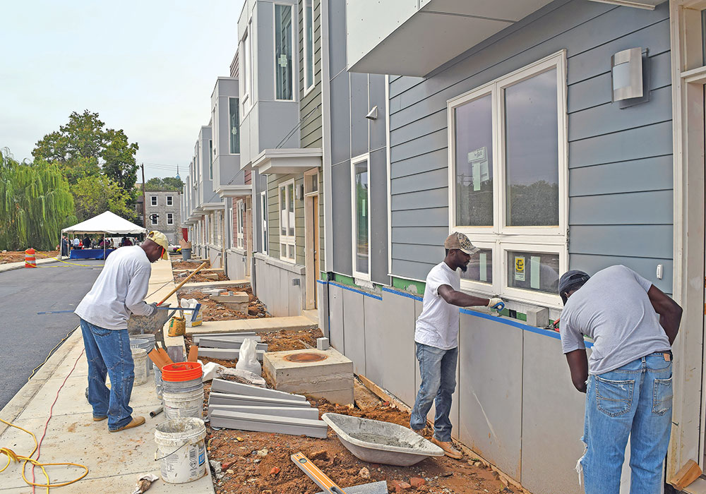 Programs and themes in Philadelphia's Housing Action Plan include housing the most vulnerable, focusing on long-term affordability, helping people become home owners , fostering growth without displacing residents, and rehabbing and preservation. Photo by Tiger Productions, courtesy Division of Housing and Community Development.