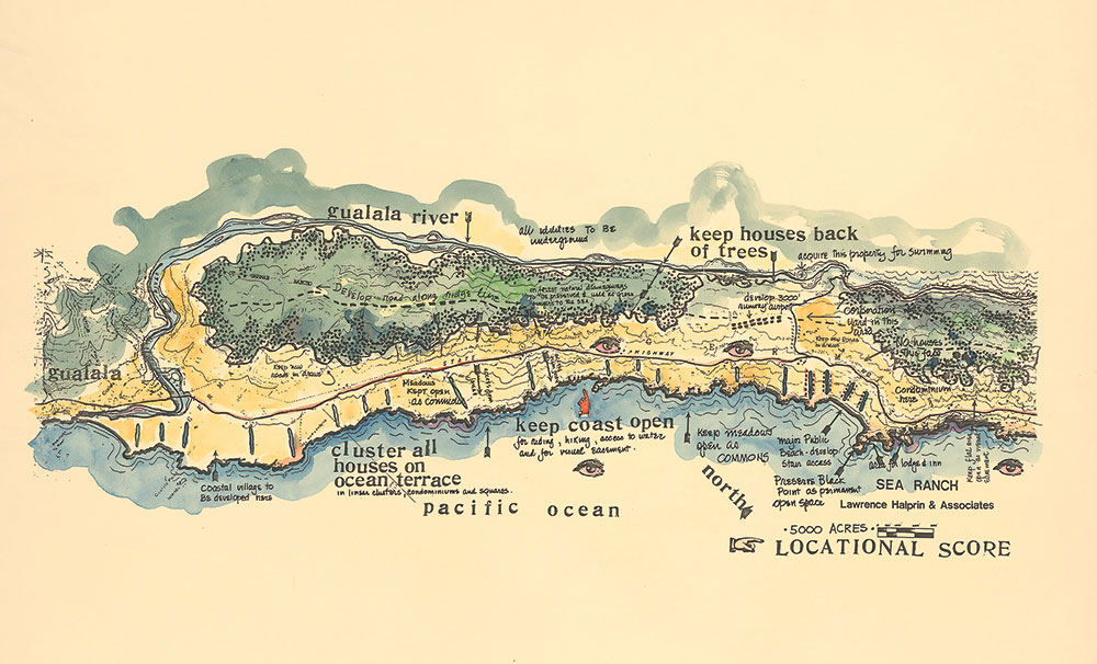 The Sea Ranch Master Plan. Map courtesy the Sea Ranch.