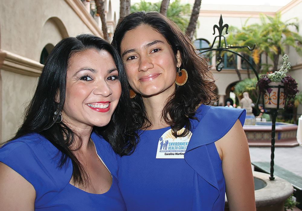 Activist and now National City Mayor Alejandra Sotelo-Solis (left), with Carolina Martinez. Photo by Leticia Ayala.