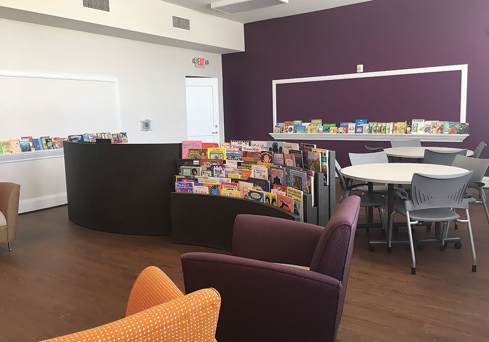 Children's Library and Family Study Center at Lincoln Grant Scholar House campus. Photo courtesy Family Scholar House.