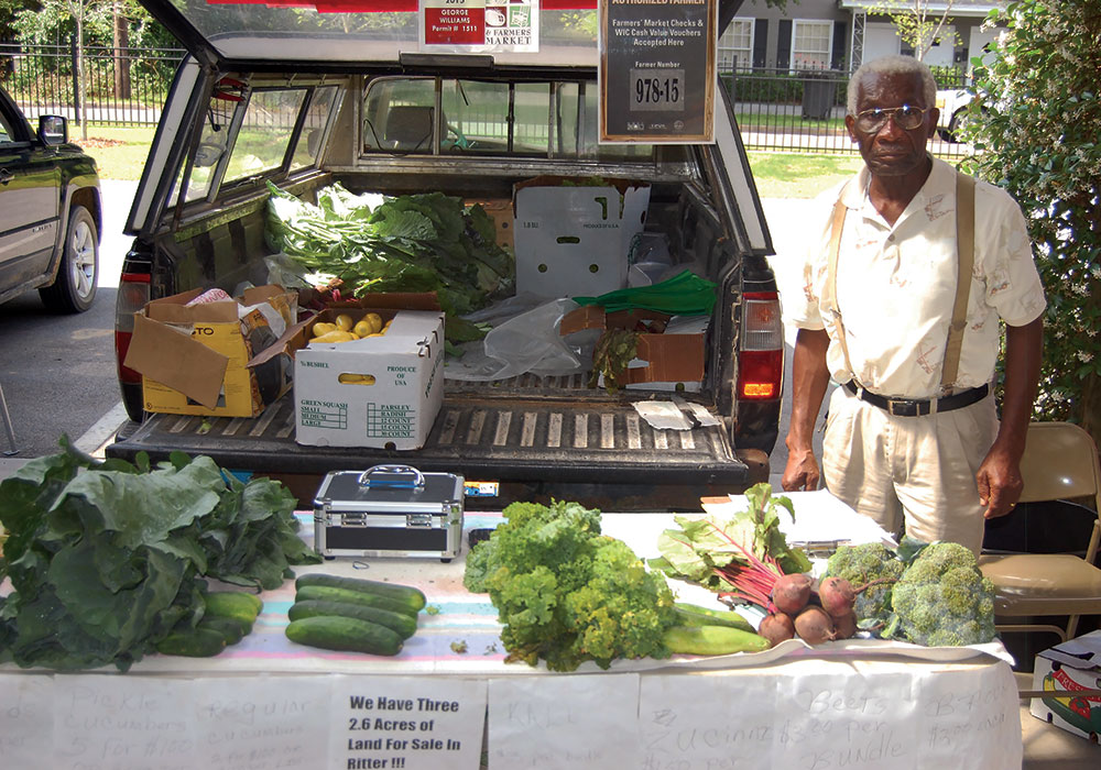 Grower George Williams sells at the farmers market. Photo by Matt Maredell/courtesy Colleton County.