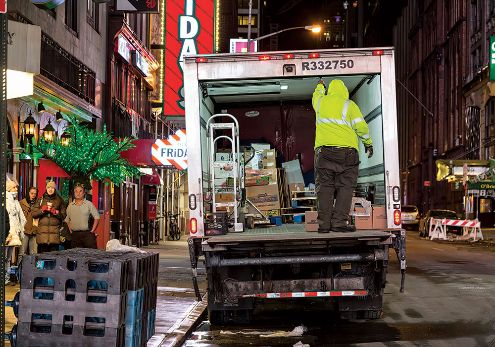 Learn more about NYCDOT's Off Hour Deliveries (OHD) program. Photo courtesy NYCDOT.