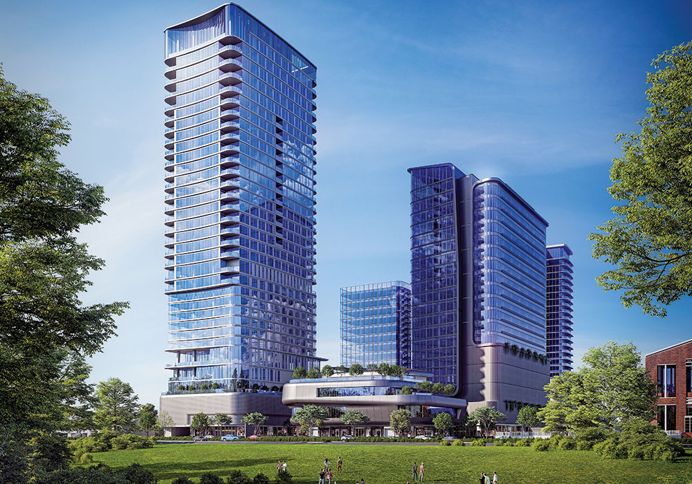 A rendering of The Allen, a mixed-used development along the Allen Parkway. Photo courtesy DC Partners.