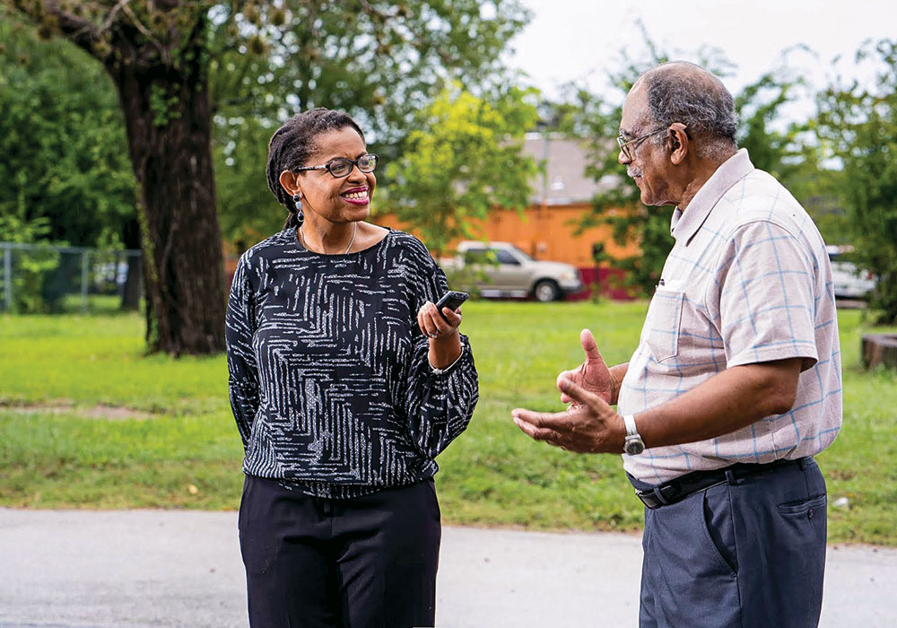 Absent much existing data, project founder Andrea Roberts relies on personal interviews to learn about the 557 known freedom colonies in Texas. Photo courtesy Texas Freedom Colonies Project.