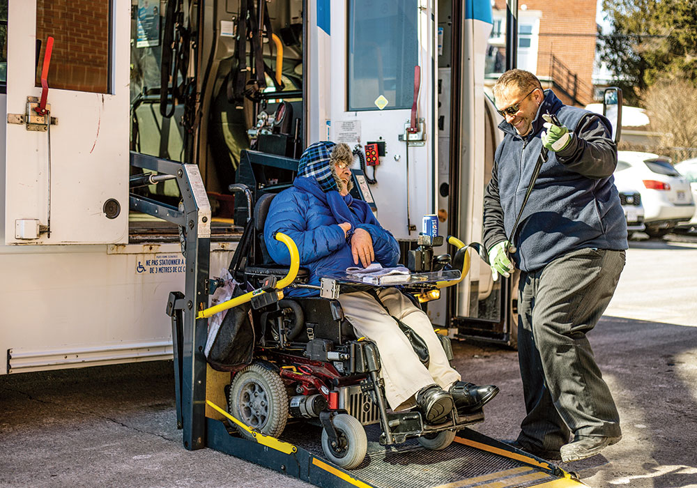 A new ride-share app aims to bring high-tech improvements to paratransit by creating a centralized database and dispatching system to provide on-demand rides. Photo courtesy MUVE.