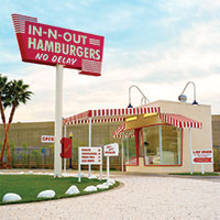 In-N-Out opens California's first drive-through window in Baldwin Park. The same year, the first McDonald's opens in San Bernardino, California.
