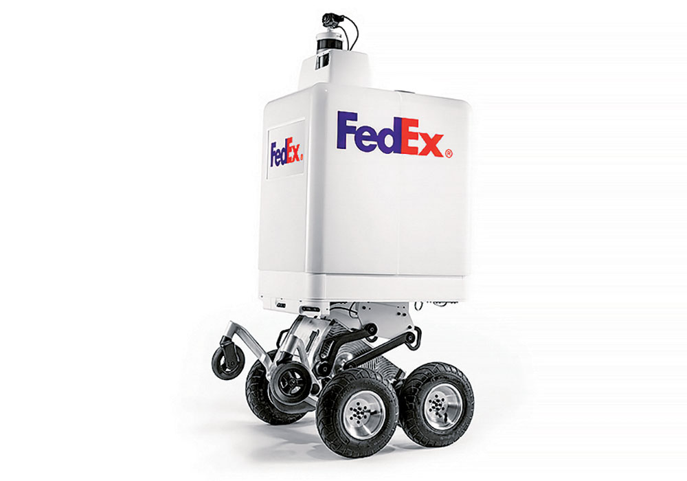 FedEx's bots can navigate unpaved surfaces, curbs, and even steps during the final leg of the delivery. The bots have machine-learning algorithms that help them learn to detect and avoid obstacles.