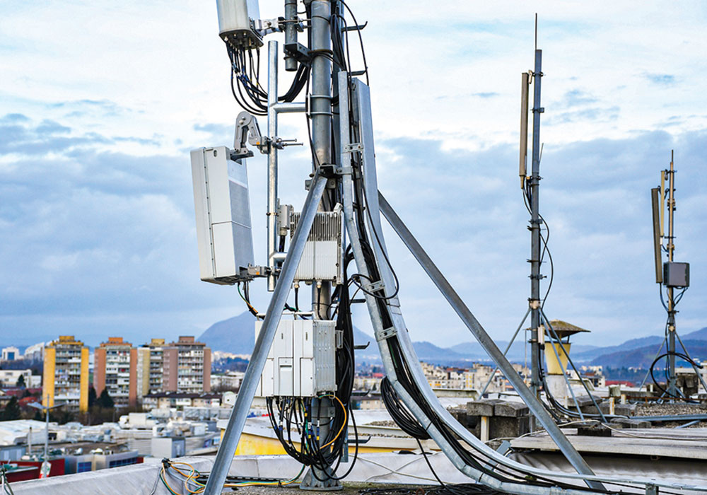 5G Installation Option: On a rooftop. Photo by TProduction/iStock/Getty Images Plus.